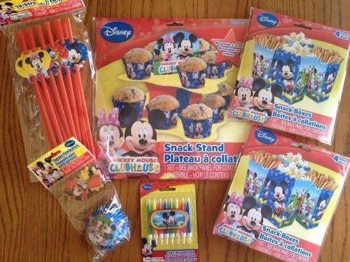 Disney Jr. Micky Mouse Clubhouse Ultimate Party Supply Pack - Featuring Micky Mouse, Minnie Mouse, Daisy Duck, Donald Duck & Goofy!!! by Saless Enterprises Inc