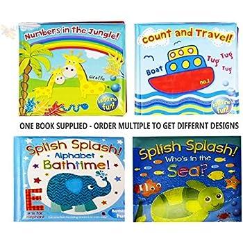 Libro per bambini, rivestito in plastica per vasca da bagno, giocattoli educativi e divertenti per bambini e ragazzi