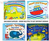Baby Bath Books Plastic Coated Fun Educational Learning Toys for Toddlers & Kids (1 x Random Book)