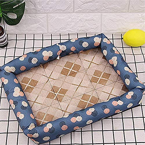 yhwygg Pet Dog Bed Waterproof Print Dog Bed Mat Summer Cooling Ice Silk Kennels for Small Dog Cat Pet Basket Sleeping Cushion Supplies 41X31Cm -