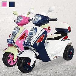 Actionbikes infantil patinete C118 Para Su Niños Electro Vespa de los cabritos VEHICULO infantil Azul Oscuro, **infantil**