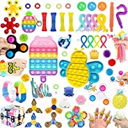 50 Pcs Fidget Toys Set Cheap,Figetget toys set Pack,Sensory Relief Toys Set, Anxiety Relief Fidget Toys With N