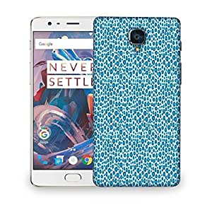 Snoogg Abstract Blue Pattern Design Designer Protective Phone Back Case Cover For OnePlus 3