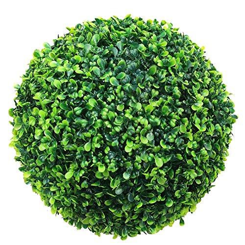 Mojawo Künstliche Buchsbaumkugel Kunstpflanze Buchskugel Graskugel Buchsbaum Kugel Plastikpflanze Innen außen Deko Ø 25 cm