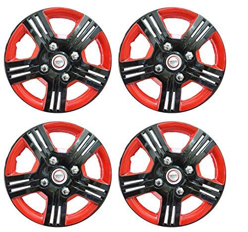 32% OFF on Hotwheelz Black Red 14 inch Wheel Cover for Mahindra KUV 100 (Set of 4) on Amazon | PaisaWapas.com