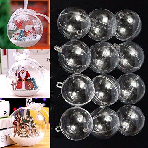 cm Ball Weihnachtskugeln Klar Ausfüllbare Weihnachtsbaum Dekoration Ornamente (Ausfüllbare Ornamente)