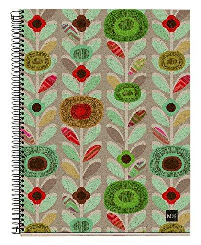 basicos-mr-2943-notizbuch-4-farben-a5-120-blatt-horizontal-ecoflowers-recycling