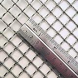 Inoxia taglio diamante rete mesh–count: 2maglie, dimensioni: 55cm x 60cm