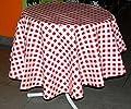DEKORATIVe Tischdecke ABWASCHBAR rund 140 cm Wachstuch rot weiß kariert Tischtuch für KÜCHE / Esszimmer / Gartentischdecke von Tischdecken bei Gartenmöbel von Du und Dein Garten