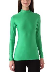 UnderArmour Women's CG Compression Mock - Medium Green, X-Small