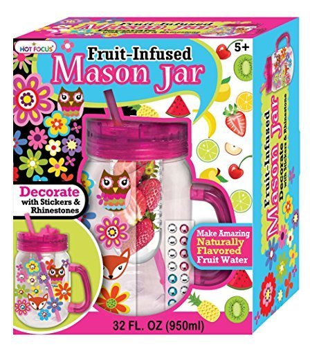 Hot Focus Fruit Infuser Mason Jar with Stickers by Hot Focus - Mason Fruit Jars