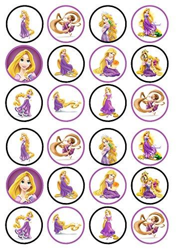 Rapunzel Essbare Premium Dicke Süße Vanille, Wafer Reispapier Cupcake Topper/Dekoration (Rapunzel-dekoration)
