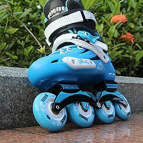 Delicacydex Professionelle Skates Schuhe Phantasie einreihig Rollschuhe Erwachsene Inline Skates Universal Skating Rink Skates für Männer und Frauen