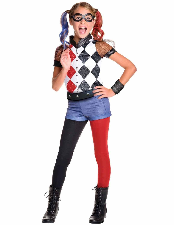 Rubie'S – Disfraz para Niñas de la Superheroína Harley Quinn, Producto Oficial de DC