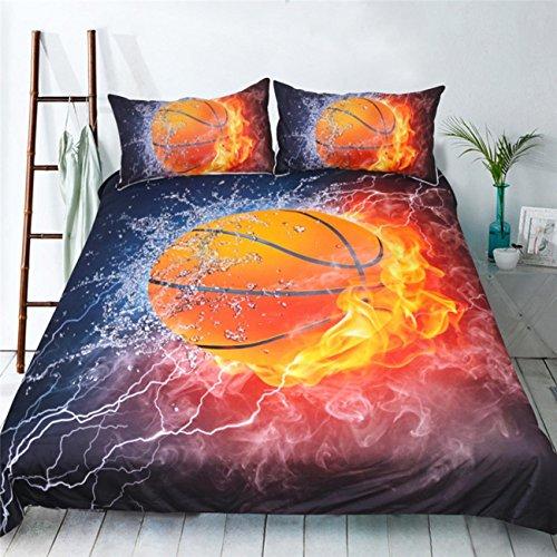 BEIZI Basketball drucken bettwäsche 3D Polyester Schlafzimmer Bettbezüge Twin königin könig Mode Elegante bettwäsche 3 stücke, 200x230cm - König 3 Stück Bettbezug