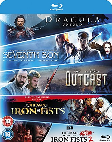 Image of Blu-ray Starter Pack: Seventh Son, Dracula Untold, Outcast, Man with the Iron Fists 1 & 2 [2016]