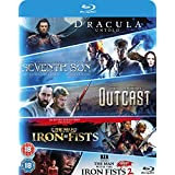 Blu-ray Starter Pack: Seventh Son, Dracula Untold, Outcast, Man with the Iron Fists 1 & 2 [2016] UK-Import (Region 2), Sprache-Englisch.