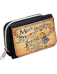 Alice In Wonderland Aw01 Mad Hatter Vintage Ladies Denim Purse Girls Coin Wallet Gift