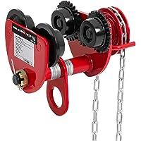 2T(4400 lbs)Laufkatze Kran Katze Handlaufwerk 80-146mm Rollfahrwerk Handfahrwerk