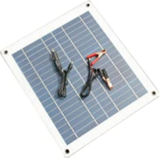 Dailyinshop Sonnenkollektor-Ladegerät-halb-Flexibler Sonnenkollektor 30W 18V für Auto-Boot (Farbe: weiß u. Schwarzes)