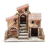 Häuser aus Kork und Harz 14x21x16cm neapolitanische Krippe