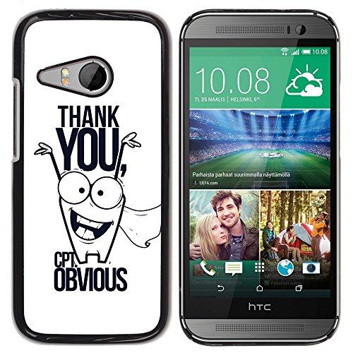 [ For HTC ONE MINI 2 / M8 MINI ][ Xtreme-Cover ][ Hart Rückseite Schutzhülle Case ] - Thank You Mr Obvious