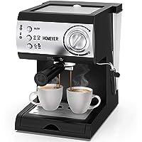 Homever Espressomaschine mit Siebträger, 15 Bar Espresso kaffeemaschine mit Milchschäumer, 1050W Hohe Leistung…