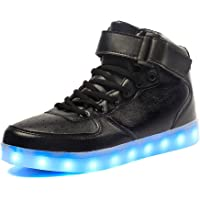 Voovix Kids LED Shoes Light up Shoes High-top Sneakers for Boys and Girls