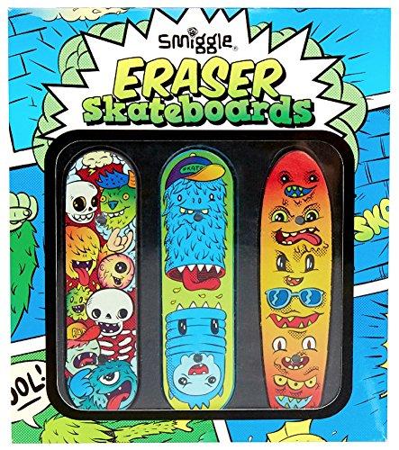 Pro-skateboards-räder (Smiggle, Radierer in Form eines Skateboards, 3 Stück pro Packung)