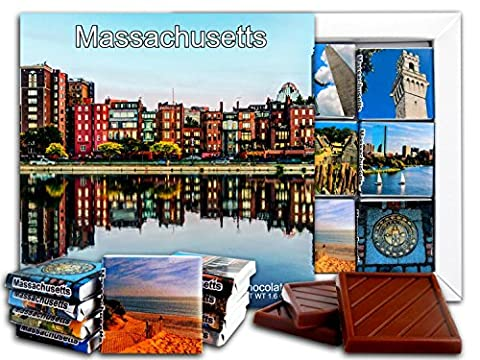 DA CHOCOLATE Candy Souvenir MASSACHUSETTS State Chocolate Gift Set 13x13cm 1 box (Day)