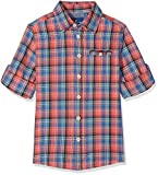TOM TAILOR Kids Jungen Hemd Shirt/Blouse Checked/Printed 1/1, Rot (Grenadine Red 4556), 152