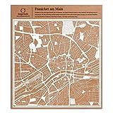 Frankfurt am Main Scherenschnitt Karte, Weiß 30x30 cm