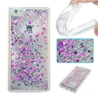 For Huawei P8 Lite (2017 Model) Case [With Tempered Glass Screen Protector],Grandoin(TM) Fashion Flexible Nice Drawing Printed Pattern Bumper Shell Case ,Excellent Quality Soft Silicone Rubber Extra Ultra Slim Thin TPU Colorful Designs Protective Back Cover Case Perfect Fit for Huawei P8 Lite (2017