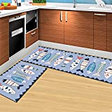 THEE Küche Teppiche Gummirückseite Dekorative rutschfeste Fußmatte Läufer Schmutzfangmatten Küchenläufer