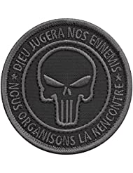 ACU Subdued Dieu Jugera Nos Ennemis Punisher US Marine Navy Seals DEVGRU NSWDG Morale Tactical Fastener Écusson Patch