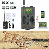 Outdoor Jagd Wildlife Kameras tragbar – 5,1 cm 12 MP 1080P HD Infrarot-PIR Night Vision GSM/GPRS/MMS/SMS Outdoor IP54 Wasserdicht Wildlife Trail Jagd Spiel Kamera Pfadfinder tragbar Spy Sicherheit Kamera (HC300 M)