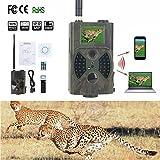 Outdoor Jagd Wildlife Kameras tragbar–5,1cm 12MP 1080P HD Infrarot-PIR Night Vision GSM/GPRS/MMS/SMS Outdoor IP54Wasserdicht Wildlife Trail Jagd Spiel Kamera Pfadfinder tragbar Spy Sicherheit Kamera (HC300M)