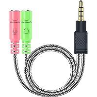 MillSO Kopfhörer Adapter Splitter 3.5mm Audio Klinke Y Kabel (3.5mm Stereo Klinkenstecker auf…
