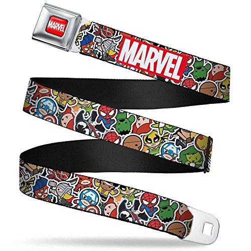 Ceinture Marvel: Héros Marvel Kawaii Seat Belt Buckle Down