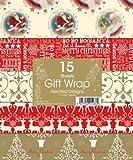 2x Weihnachts-Geschenkpapier, verschiedene Muster, 15Blatt