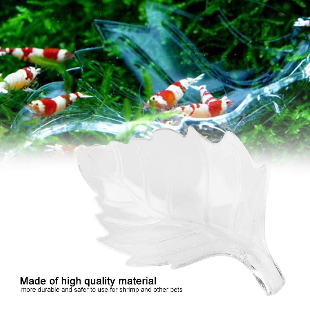 Pssopp Acrylic Aquarium Shrimp Feeding Dish Leaf Shaped Bowl Fish Tank  Transparent Food Container Feeder Tray Smaller Reptile Worms Pets Feeder