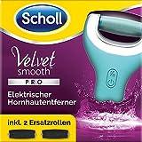 Scholl Velvet Smooth Pedi Pro, elektrischer Hornhautentferner, Prime Day Vorteilspack mit zwei Ersatzrollen Extra Stark