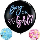 Meowoo Baby Shower Boy or Girl Palloncini Reveal di Genere con Coriandoli, Palloncino Ragazzo o Ragazza per Gender…