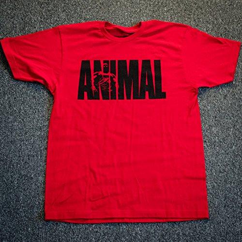 Animal Unisex-Erwachsene Iconic T-Shirt, rot, Mittel - American Heavyweight T-shirt