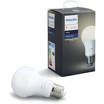 Philips Hue White - Bombilla LED E27 Individual, 9.5 W, Iluminación Inteligente, Luz Blanca Cálida Regulable, Compatible con Amazon Alexa, Apple Homekit y ...