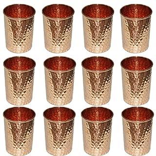 AVS Store reines Kupfer Glas haben, für Heilung Ayurvedische Geschirr Zubehör Set von 12