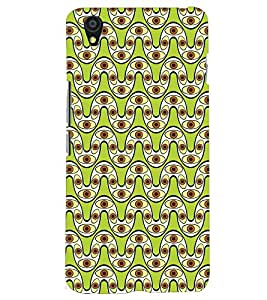Printvisa Premium Back Cover Curved Line Lemon Geommetric Pattern Design For One Plus X::One + X