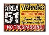 "Sketchfab ""Area 51 No Tranpassing"" Wall Sign (Wooden, 30 cm x 20 cm)"