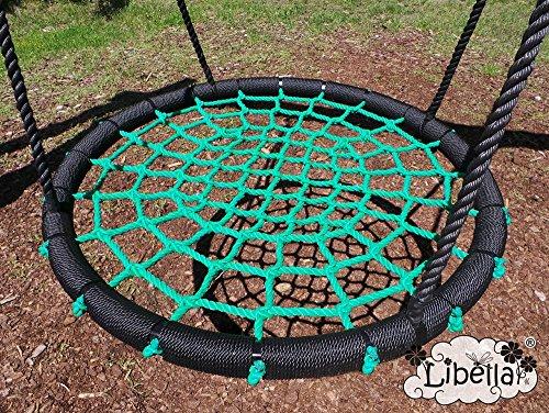 Libella Nestschaukel 100 cm Schaukel Kinder Rundschaukel Tellerschaukel Netzschaukel (Grün)