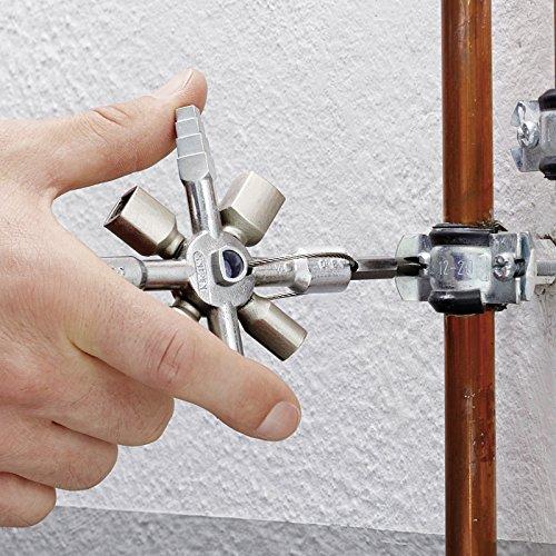 Knipex 00 11 01 TwinKey – für Schaltschränke, Fenster und Absperrsysteme - 4